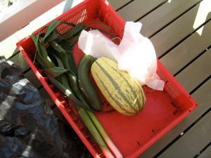 Och överblivna grönsaker