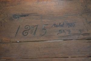 Sedan 1875. Farfar föddes 1876, han var kanske först. Man undrar ju vem som gjort den och de fina siffrorna.
