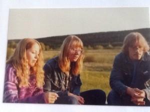 Carina, Margith och Mats 1981. Då var tjejerna 18 år och Mats ett par år äldre.