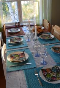 Vi hade en liten middag i vårt gammelhus.