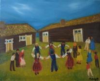 Besöker fasters tavlor i Ångermanland.