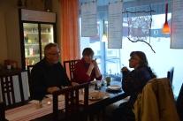 NLL Kulturs hemslöjdsgrupp på möte under Nattfestivalen i Korpilombolo.