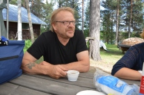 Håkan Andersson som jobbat på Studieförbundet Vuxenskolan sedan 1980-talet. Med Malin Carlsson :-)