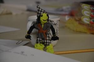 Miiiin docka som jag gjorde på Evas workshop, som hon hade för Korpilombolos skolbarn.