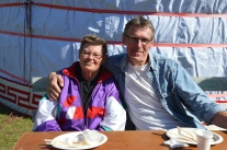 Märta och Sture kom på lunch till Martingården.