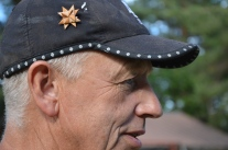 Allan Nordmark, tjärbrännare.