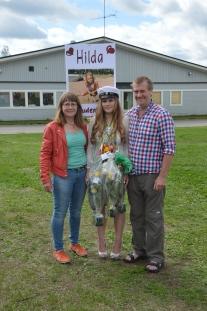 Med mamma och pappa.