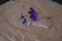 Choklad och hallonmoussetårta.