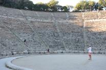 Ampfiteatern i Epidaurus