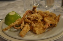Friterad bläckfisk