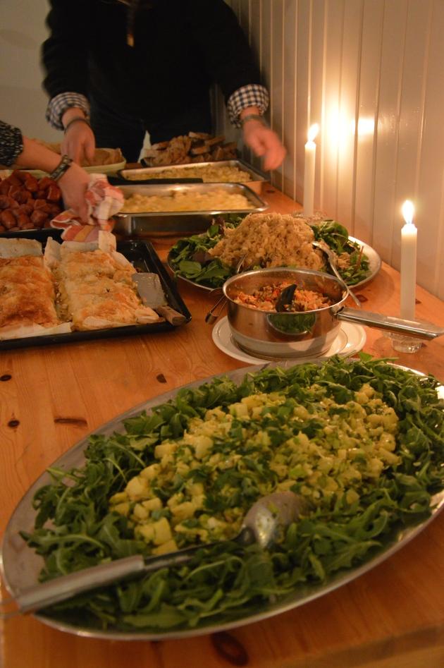 Maten! Väldigt god.